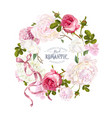 romantic garden wreath vector image vector image