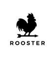 rooster arrow weather vane logo icon vector image