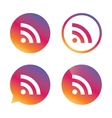 RSS sign icon RSS feed symbol vector image vector image