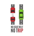 Safety belt conceptual background vector image vector image