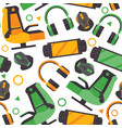 seamless pattern with video game accessories like vector image vector image