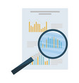 search magnifying glass with financial documents vector image vector image