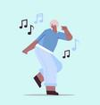 senior african american woman dancing and singing vector image