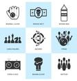 set black sports icons vector image