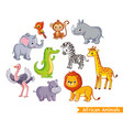 set with african animals a collection vector image