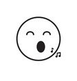 smiling cartoon face sing positive people emotion vector image vector image