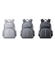 sport backpack mockup realistic black gray and vector image