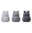 sport backpack mockup realistic black gray vector image