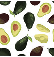 Summer pattern with avocado