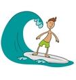 surfer doodle vector image