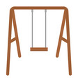 swing wooden isolated icon vector image
