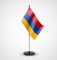Table flag of Armenia vector image vector image