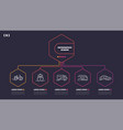 thin line infographic scheme with 5 options vector image vector image