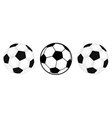 three footballs vector image vector image