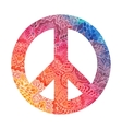 Watercolor peace symbol vector image vector image