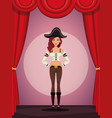 woman cosplay style vector image vector image