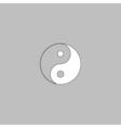 Ying yang computer symbol vector image