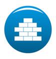 brick wall icon blue vector image