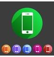 smartphone phone icon flat web sign symbol logo vector image
