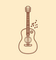 the guitar is a musical instrument image vector image