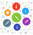 7 thermometer icons vector image vector image