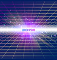 abstract background with neon grids vector image vector image