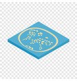 artificial islands in the uae isometric icon vector image vector image