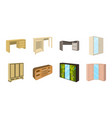 bedroom furniture icons in set collection for vector image