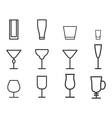 Beverage thin line symbol icon Cocktails vector image vector image