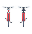 bike with pedals and rudder front view bicycle vector image vector image
