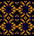 blue yellow seamless pattern vector image vector image