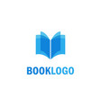 book education logo vector image