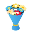 Bouquet isometric 3d icon vector image vector image