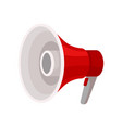 bright red megaphone with handle and button vector image