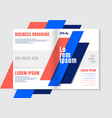 brochure design template geometric vivid color vector image vector image