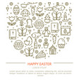 brochure easter with your text vector image vector image