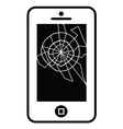 Broken Mobile Device 01 vector image vector image