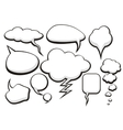 Bubble Talk Collection Sketch Drawing vector image