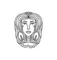 cancer girl portrait zodiac sign for adult vector image vector image