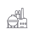 chemical factory line icon concept chemical vector image vector image