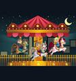 children in amusement park vector image vector image