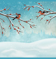 christmas holiday winter landscape vector image vector image