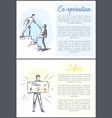 co-operation and idea set vector image vector image