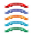 collection of colored ribbons with the text vector image vector image