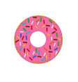 colorful doughnut dessert icon vector image vector image