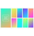 colors gradient soft backgrounds vector image vector image