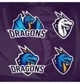 Creative dragon logo template Sport mascot design vector image vector image
