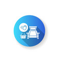 curbside pickup flat design long shadow glyph icon vector image