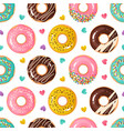 donut pattern seamless texture sweet desserts vector image