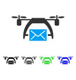 drone mail flat icon vector image vector image